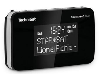 [ibood] TechniSat DigitRadio 2Go schwarz, DAB+, UKW, RDS, integrierter Akku Beleuchtetes LCD-Display Integrierte, wieder aufladbare Batterie 10 Speicherplätze für DAB+ und UKW Sender