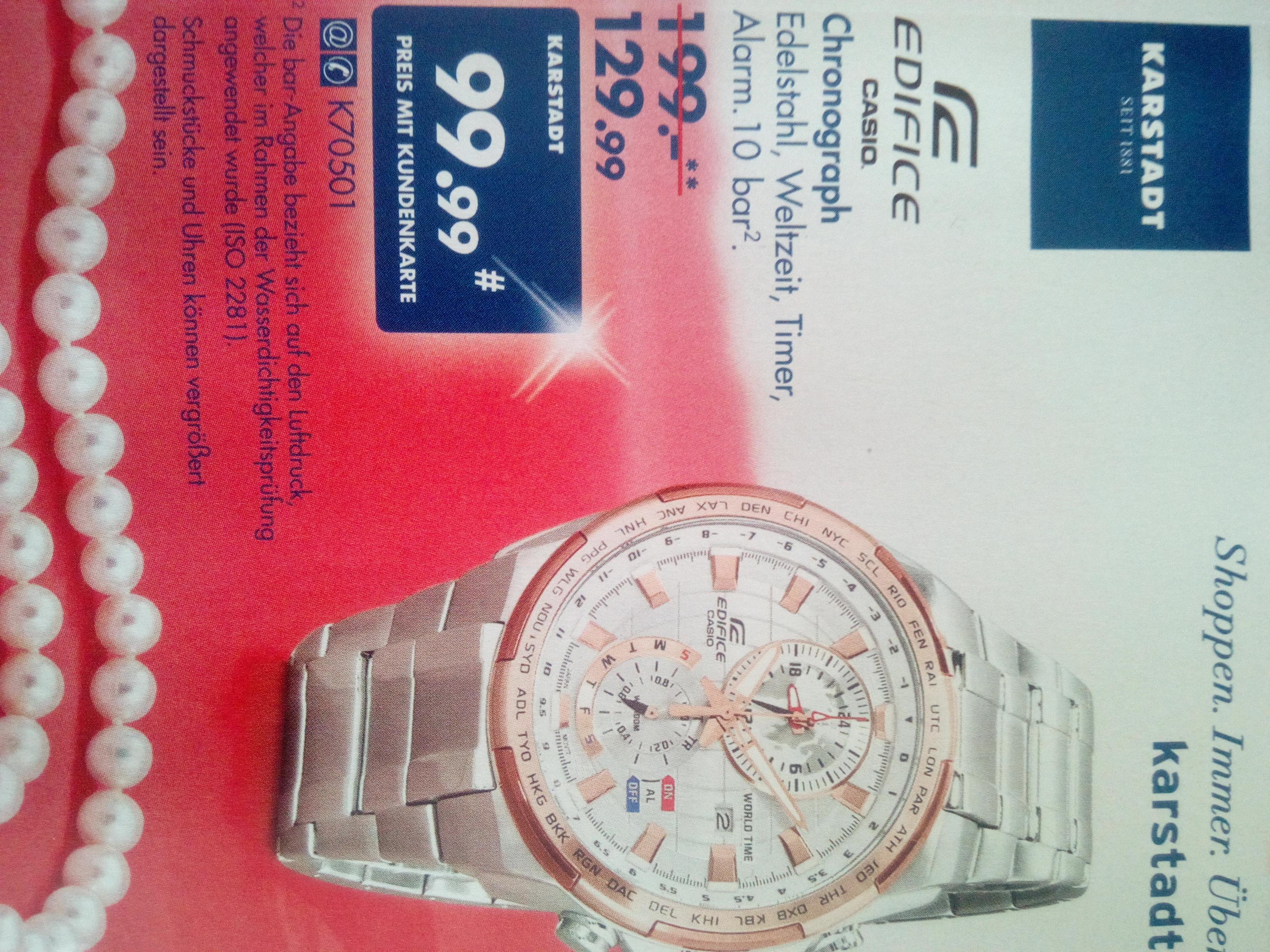 Exklusiv für Karstadt Kundenkarten-Inhaber: Casio Edifice EFR-550 Damenuhr