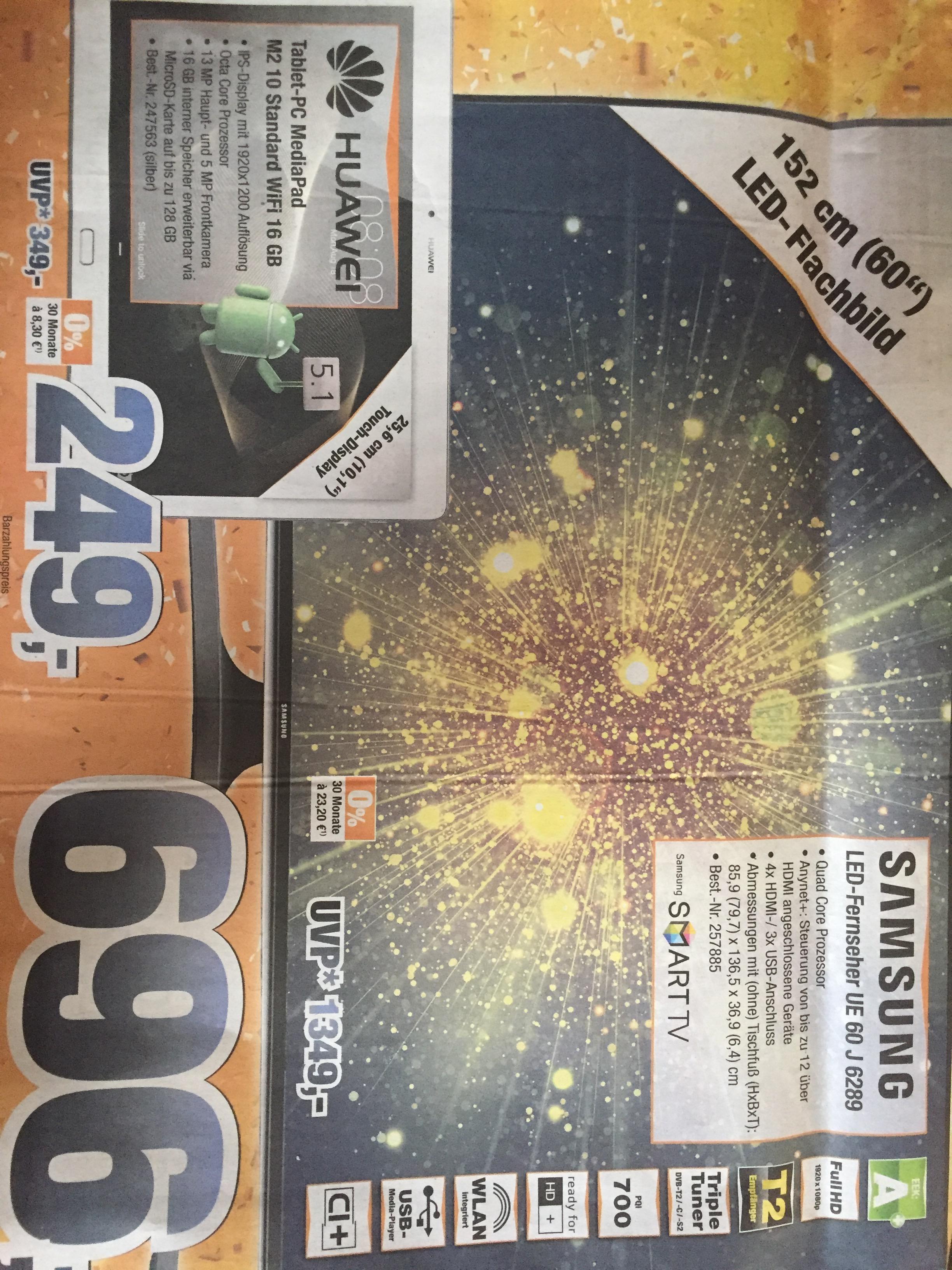 Samsung 60 Zoll UE60J6289 idealo ab 800€