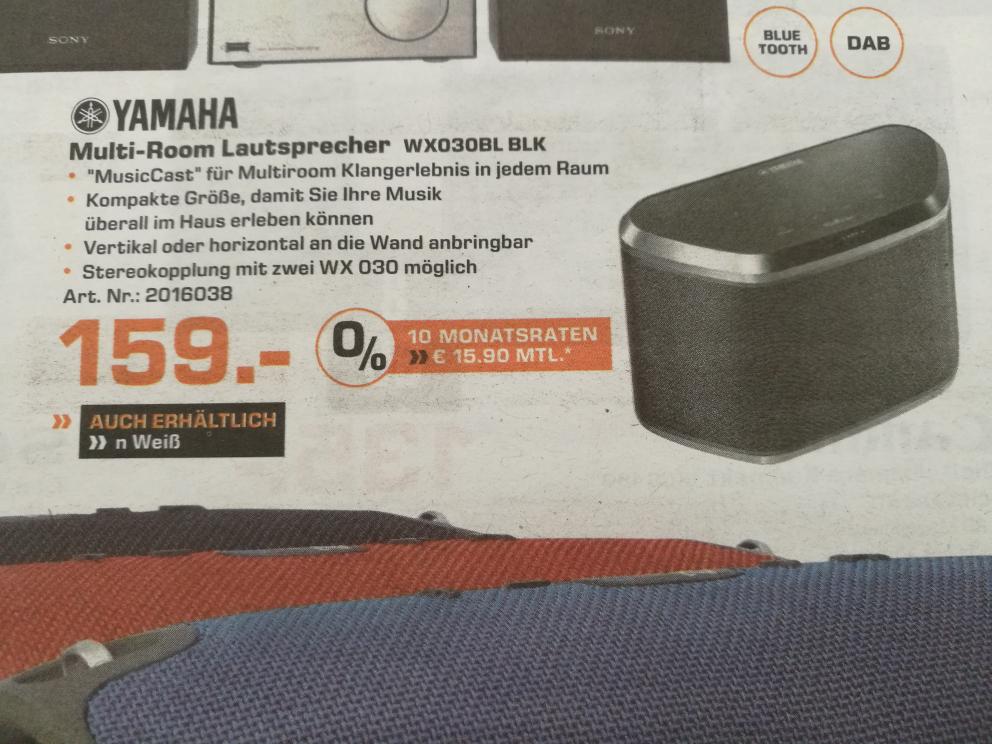 [Lokal] [Saturn Mönchengladbach/Rheydt] Yamaha Wx030 Multiroom Lautsprecher 159 €
