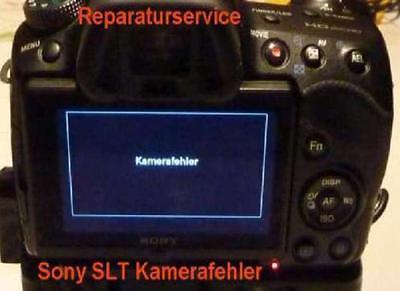 """Sony Alpha SLT-Kameras (A33, A35, A37, A55, A57, A58, A65, A68, A77, A99) Reparatur """"Kamerafehler"""" / Verschlussmechanik für ab 49 EUR (@ eBay)"""