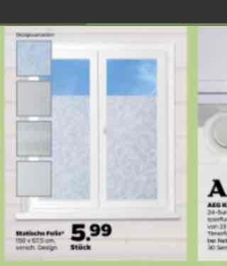 Statische Fensterfolie mit Muster als Sichtschutz 150 x 67,5