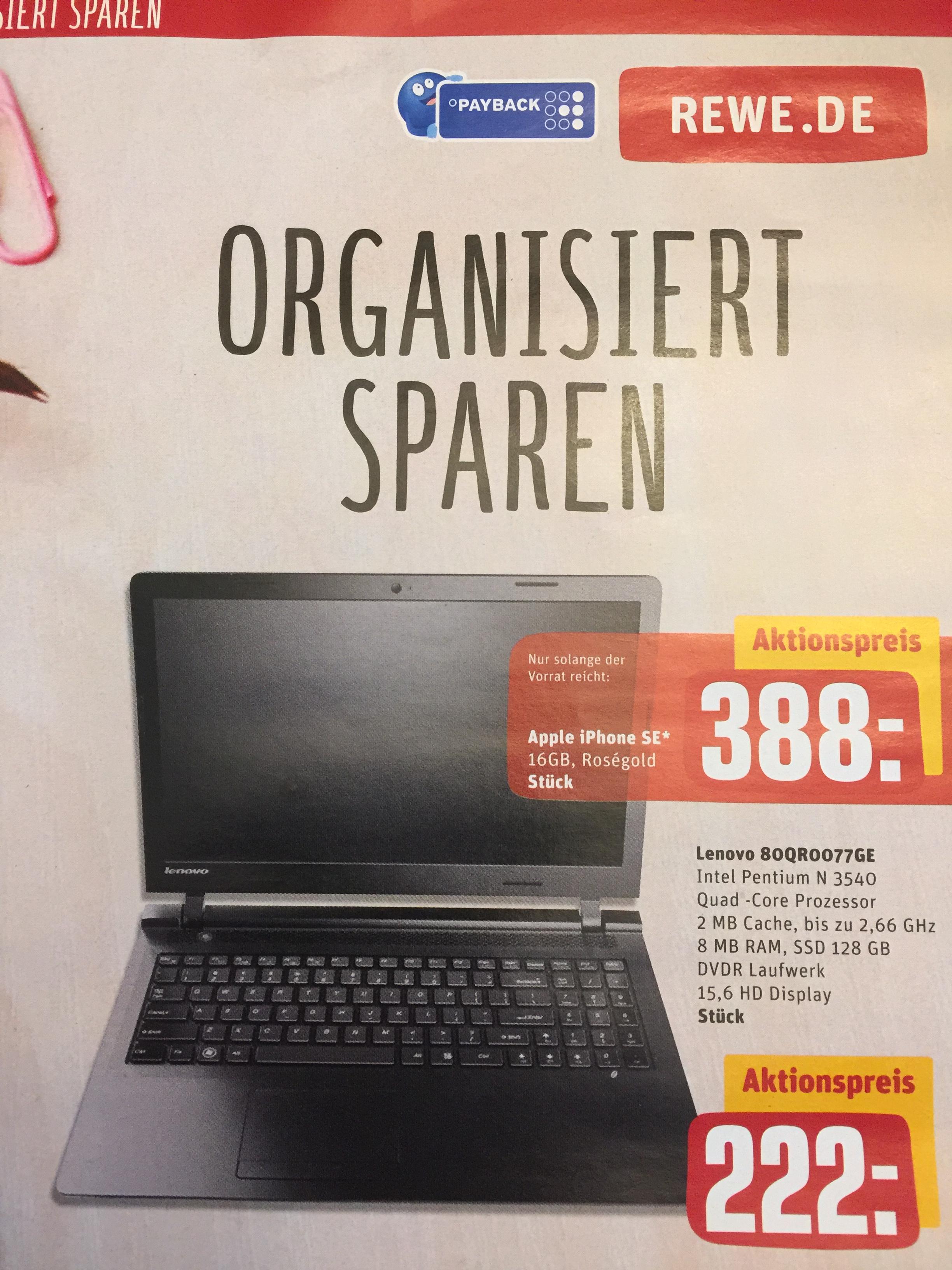 "[LOKAL Hamburg] Lenovo B50-10 80QR0077GE, 8GB RAM, 128GB SSD, 15,6"""