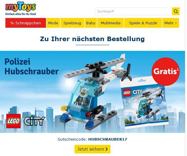 [mytoys] LEGO City Hubschrauber gratis bei 25 Euro MBW