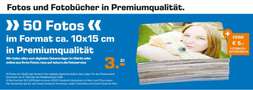[Berlin] 50 Fotos 10×15 Saturn mit 5€ CW Gutschein