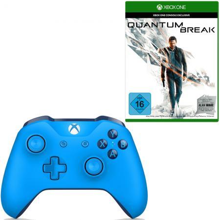 Xbox Wireless Controller Blau + Quantum Break (Xbox One) für 60,51€ (Redcoon)