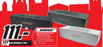 [Lokal Mediamarkt Wiesbaden-Tagesangebot nur heute] BOSE SoundLink Mini II Multimedia-Lautsprecher  in 3 Farben für je 111,-€
