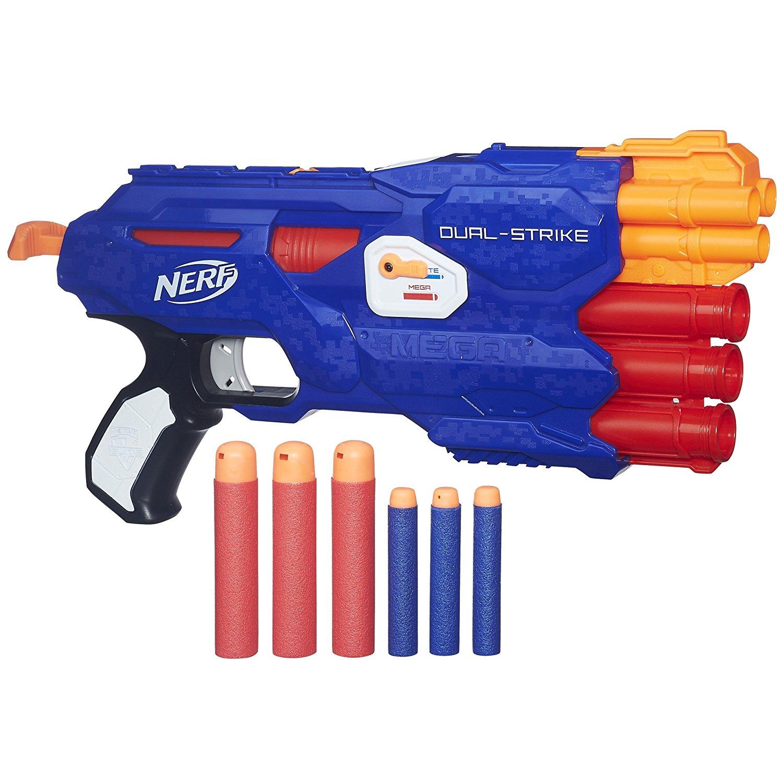 UPDATE: 5,88€ [Amazon Plus] Hasbro Nerf B4620EU4 N-Strike Elite Dual-Strike Spielzeugblaster