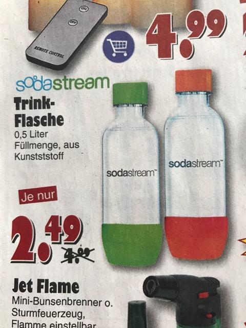 SodaStream Trinkflasche 0,5l für 2,49€ in jawoll Märkten