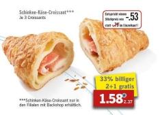 [Lidl ab 06.02] 3-für-2-Aktion für Schinken-Käse-Croissants