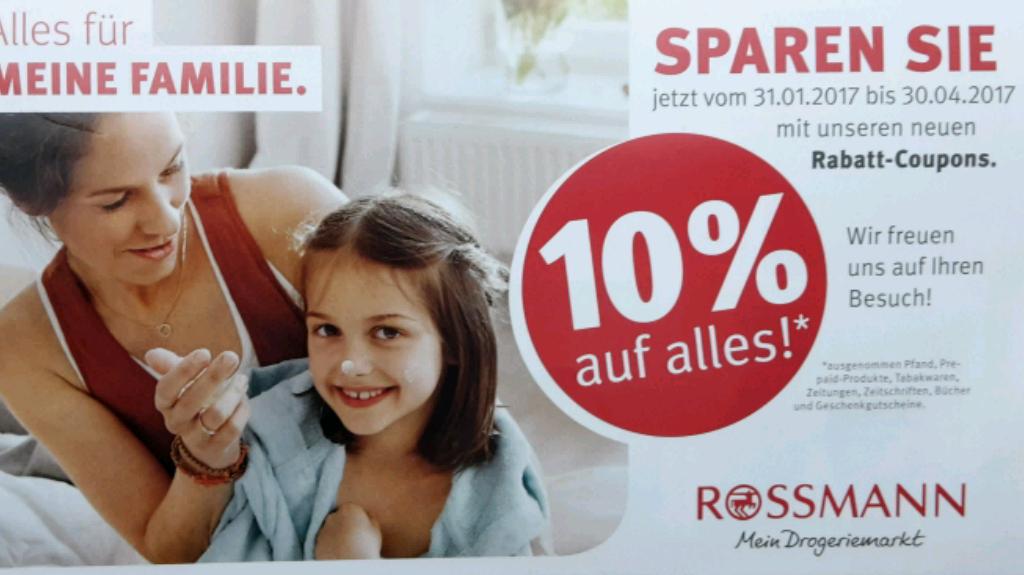 [Rossmann offline] 10% auf alles bis Ende April