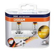 Amazon WHD - Osram LCG H4 Light Champion Deutschland Edition Scheinwerferlampe (2 Stück)
