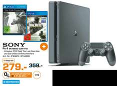 [Lokal Saturn Duisburg] Sony PlayStation 4 (PS4) Slim  1TB + Call of Duty: Modern Warfare - Remastered + Call of Duty: Infinite Warfare + The Last Guardian (PS4) für 279,-€