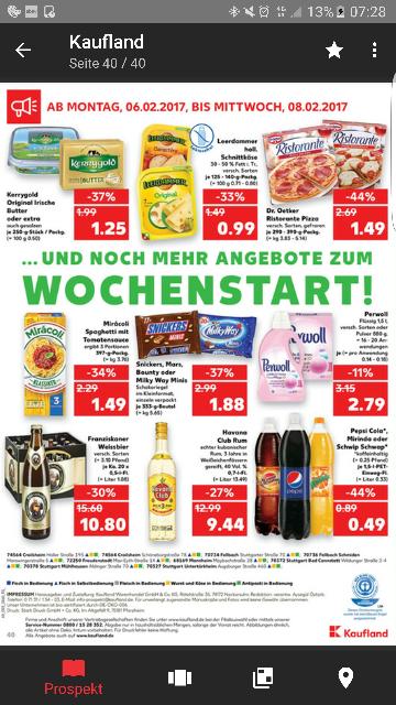 Pepsi Cola, mirinda, schwip schwap @ kaufland 1,5l für 0,49€ zzgl pfand