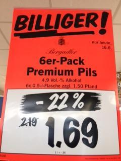 Bergadler Premium Pils 6x 0,5l für nur 1,69 € @ Liidl (lokal Sachsen/Brandenburg