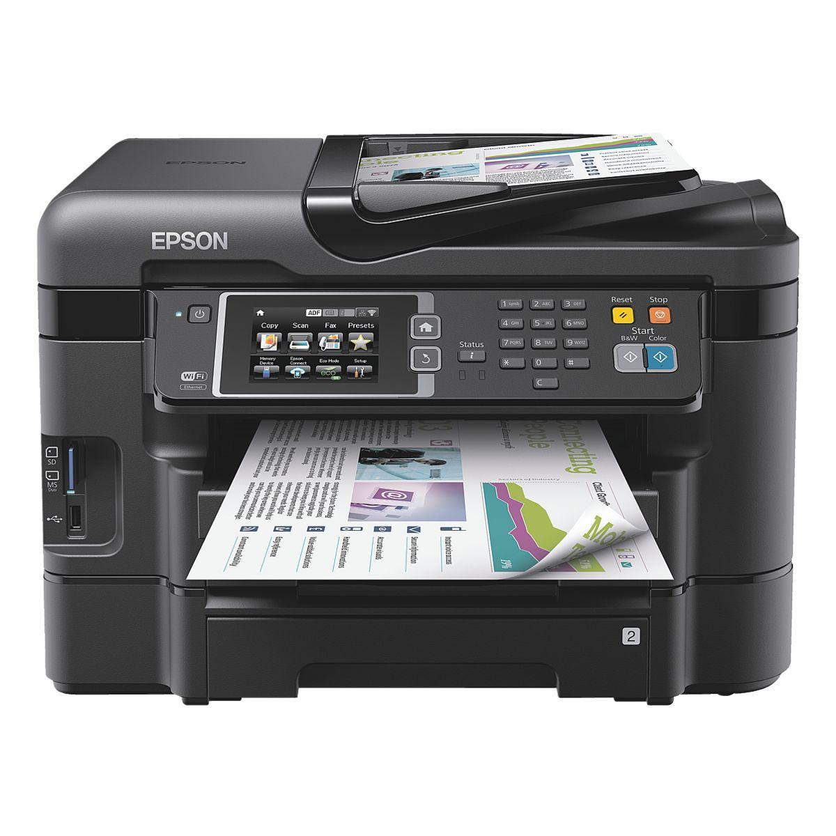 Epson Multifunktionsdrucker WorkForce WF-3640DTWF | Tintenstrahl | Duplex | 2 Papiereinschübe