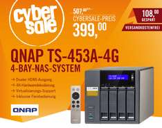 [cyberport] QNAP TS-453A-4G NAS System 4-Bay QTS-Linux Combo NAS