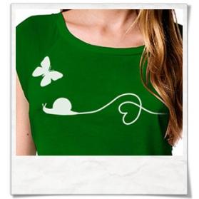 15 % und kostenloser Versand auf Liebe zwischen Schnecke und Schmetterling T-Shirt beim Fair-Label Picopoc / Code: Valentinstag