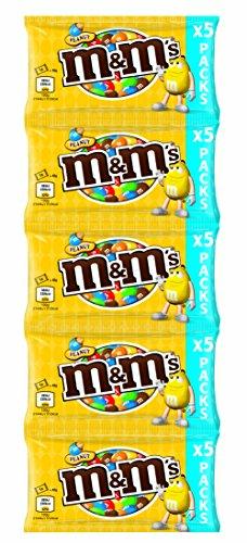 ( amazon plus ) M&M's & Friends Peanut, 5 Streifen mit je 5 Beuteln (25 Beutel à 45g, total 1.125kg) MHD-Ware