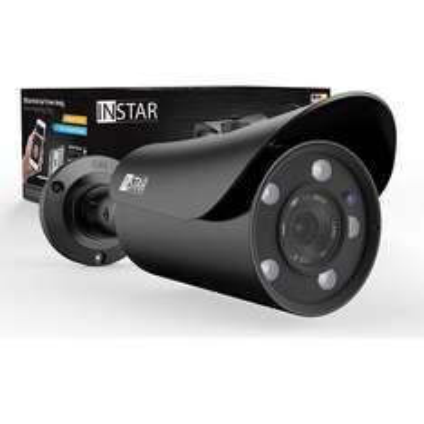 INSTAR IN-5905HD Wlan IP Kamera / Sicherheitskamera für Außen / HD Überwachungskamera / Outdoor (5 Leistungsstarke IR LEDs, Infrarot Nachtsicht, Weitwinkel, wetterfest, SD Karte, Bewegungserkennung, Aufnahme, WDR) Schwarz & Weiß [PLUS.de]