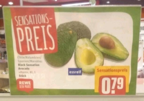 Avocado für 0,79 statt 1,99 (Rewe - bundesweit)