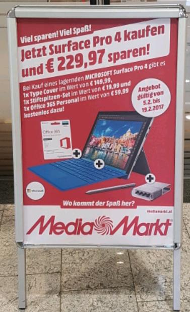 Surface Pro 4 mit gratis Zubehör (LOKAL)