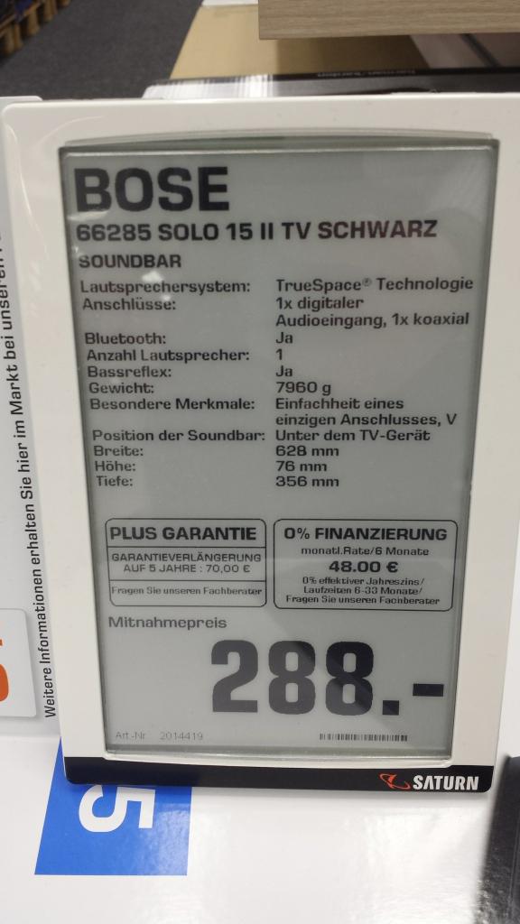 Lokal Saturn Dortmund Bose Solo 15