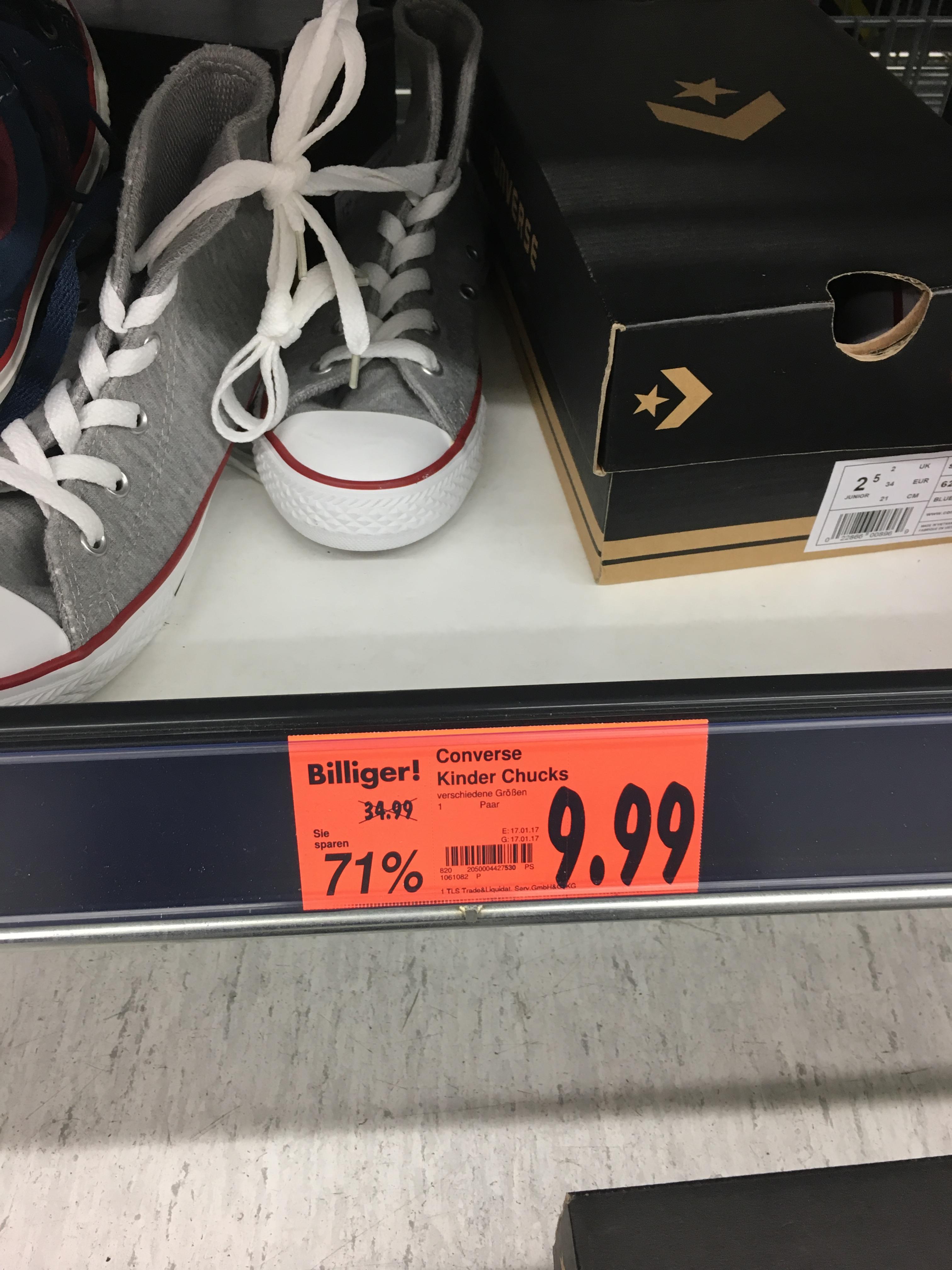 Converse Kinder Chucks abverkauft Kaufland Neckarsulm 9,99€