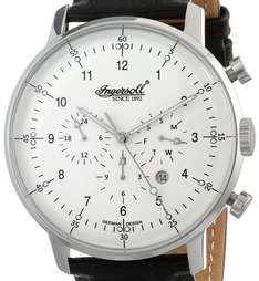 amazon.de Ingersoll Herren-Armbanduhr XL Houston Chronograph Automatik Leder IN2816WH