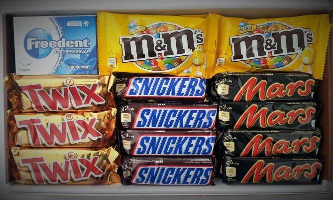 Mars Chocolate-Box mit 52 einzeln verpackten Riegeln und Kaugummipackungen @DC (+3% shoop)
