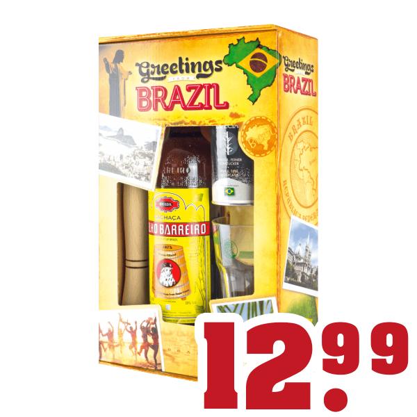 [trinkgut] Cachaca Velho Barreiro Caipirinha Set 0,7l Flasche + Glas, Stößel und weißen Rohrzucker