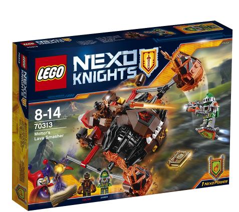 Wochenangebot bei [ToysRUs] 3 Lego Nexo Knights Sets z.B. 70313 Moltors Lava-Werfer für 12,98€ inkl. VSK statt ca. 20€