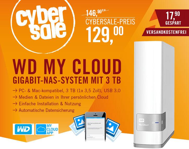 WD My Cloud NAS System 1-Bay 3TB