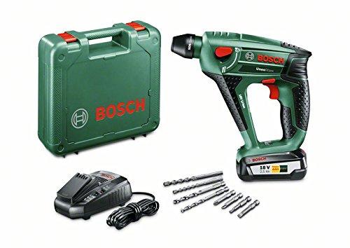 Bosch DIY Akku-Bohrhammer Uneo Maxx, Akku, Ladegerät, 2 x Betonbohrer, 2 x Universalbohrer, 4 Bits, Koffer (18 V, 2,5 Ah, Bohr-Ø 10 mm Beton, 8 mm Stahl) für 107,90 €