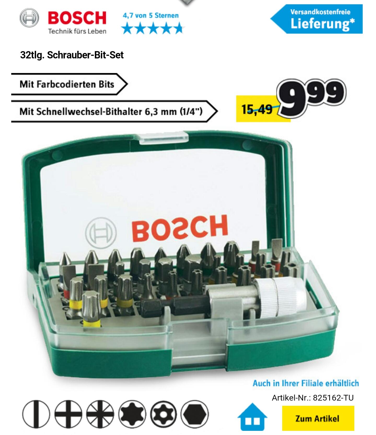 [Conrad] Bosch 32-tlg. Schrauberbit-Set für 9,99€ versandkostenfrei