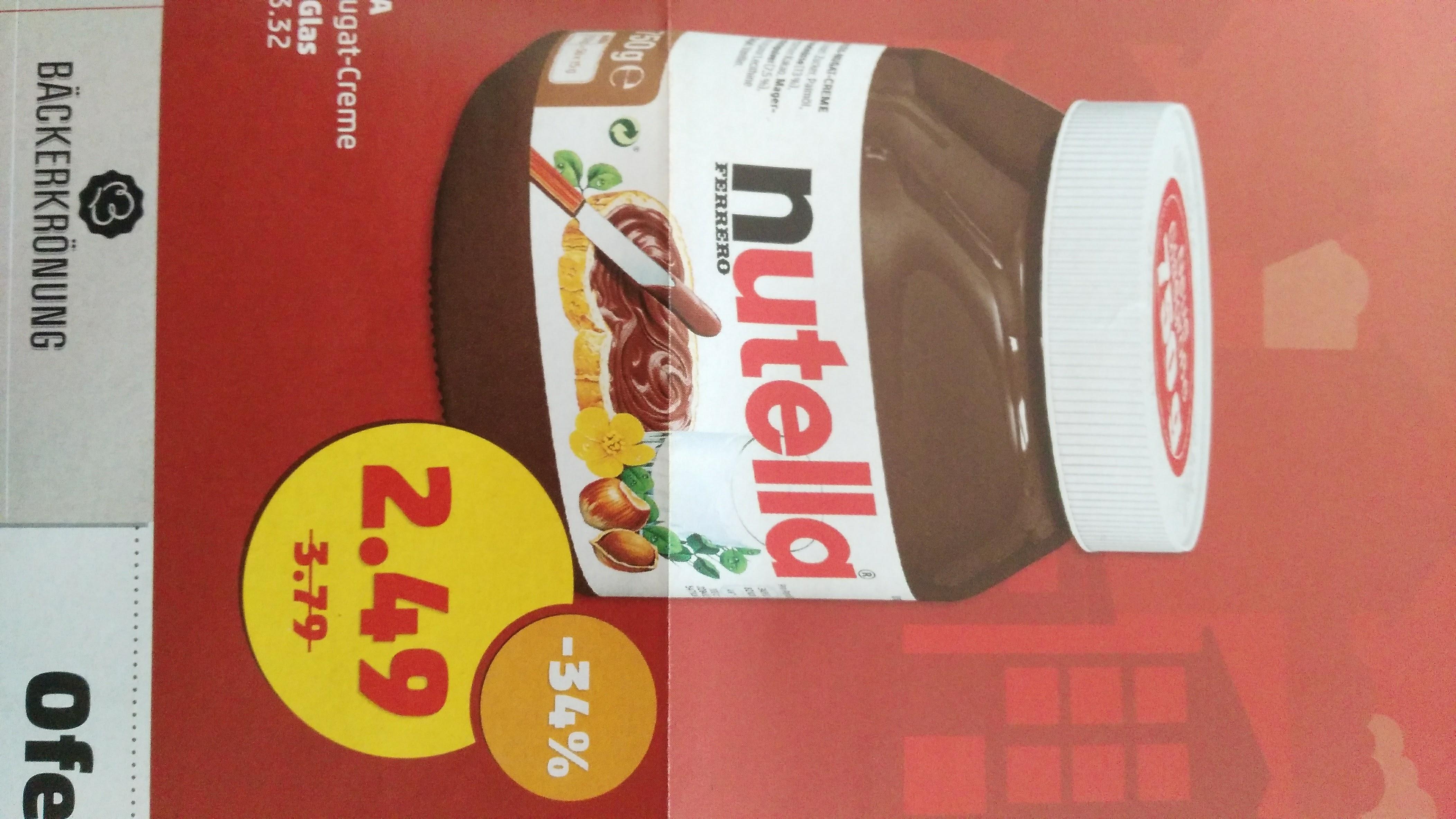 Nutella 2,49 Euro für 750 Gramm, Havana Club 8,88 Euro usw. lokal Hamburg Bramfeld