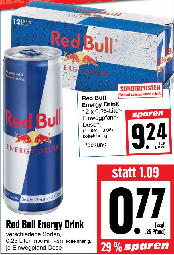 [Lokal Gießen Edeka] Red Bull 250ml für 0,77€