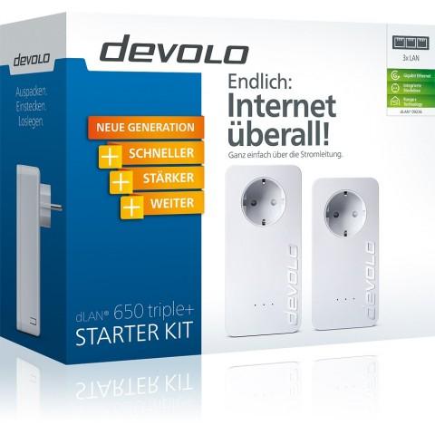 DEVOLO Powerline DLAN 650 Triple+ Starter Kit