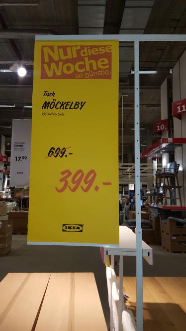 @ IKEA Hamburg Moorfleet Esstisch Möckelby für 399€ statt 699€