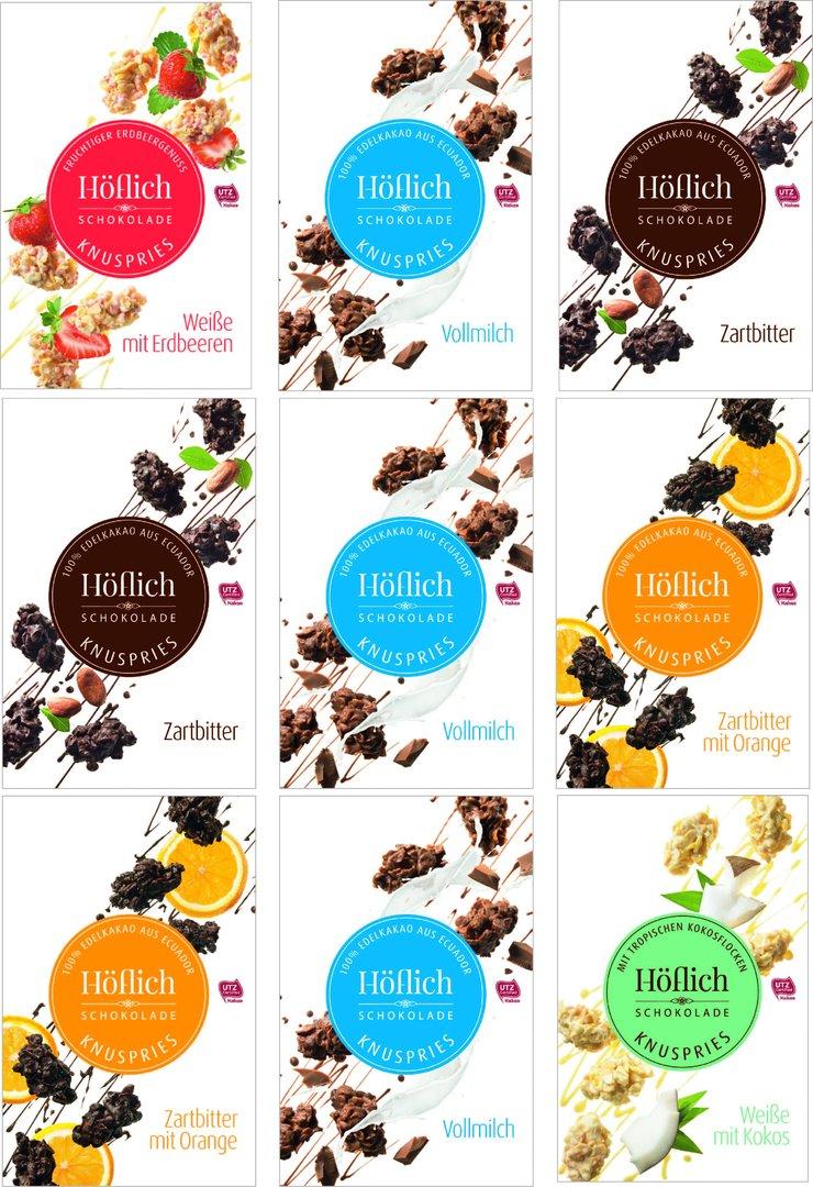 Knuspries von Höflich Schokolade im 9er Pack für 25€ statt 31,41€