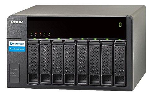 Qnap TX-800P Serveur NAS Externe 64 Mo USB 2.0 Noir