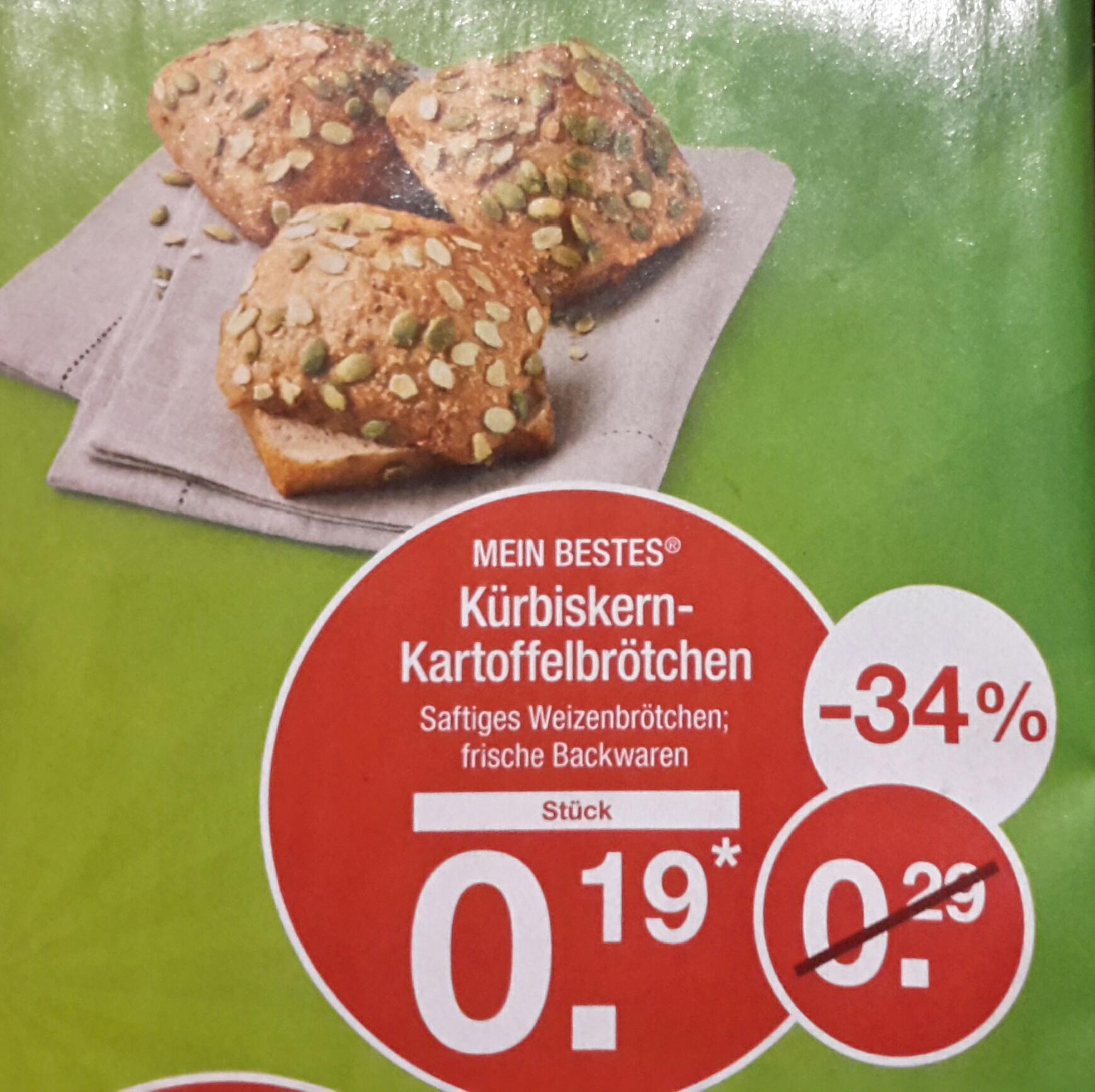 [Aldi Nord] Kürbiskern-Kartoffelbrötchen für 0,19 € ab dem 13.02.17