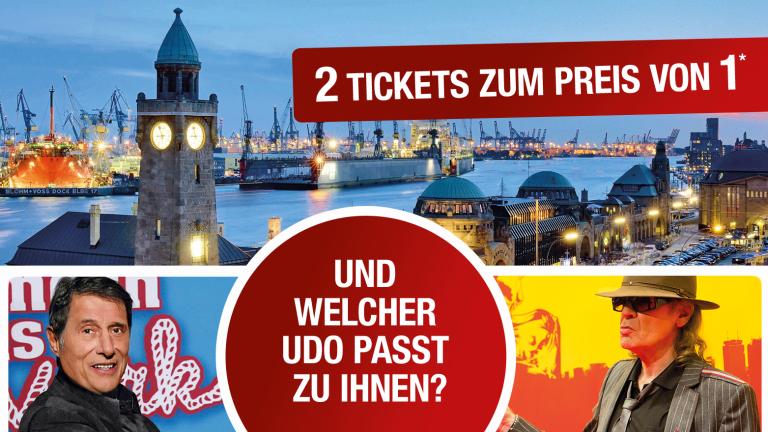"""Stage MUSICAL 2 für 1 """"Hinterm Horizont"""" - """"Ich war noch niemals in New York"""" [Hamburg]"""