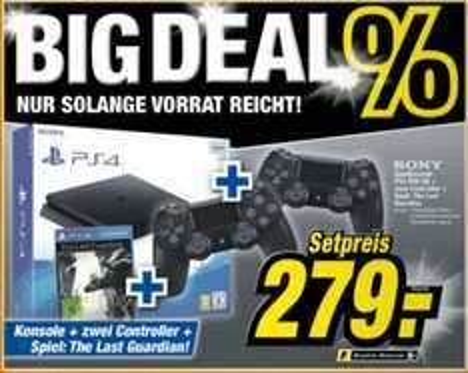 "PS4 + 2. SONY Controller + The Last Guardian für 279,- bei expert offline ""BIGDEAL"""