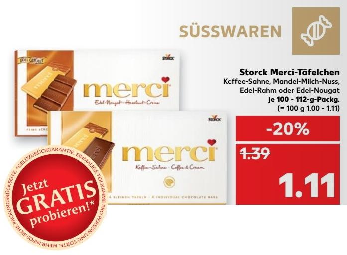 [Kaufland] Merci Schokolade vom 16.02.2017 bis 22.02.2017