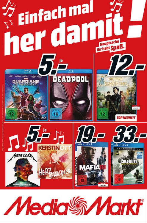 [Lokal Media Märkte Berlin-Brandenburg] Mafia III (PS4/XBoxOne) für 19,00 €, Call of Duty Infinite Warfare Legacy Editon (PS4) für 33,00 €