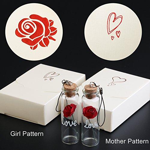 Valentinstagsgeschenk kleine Rose + Karten Fluoreszierend 2 Stücke für 4,99€ Amazon Prime