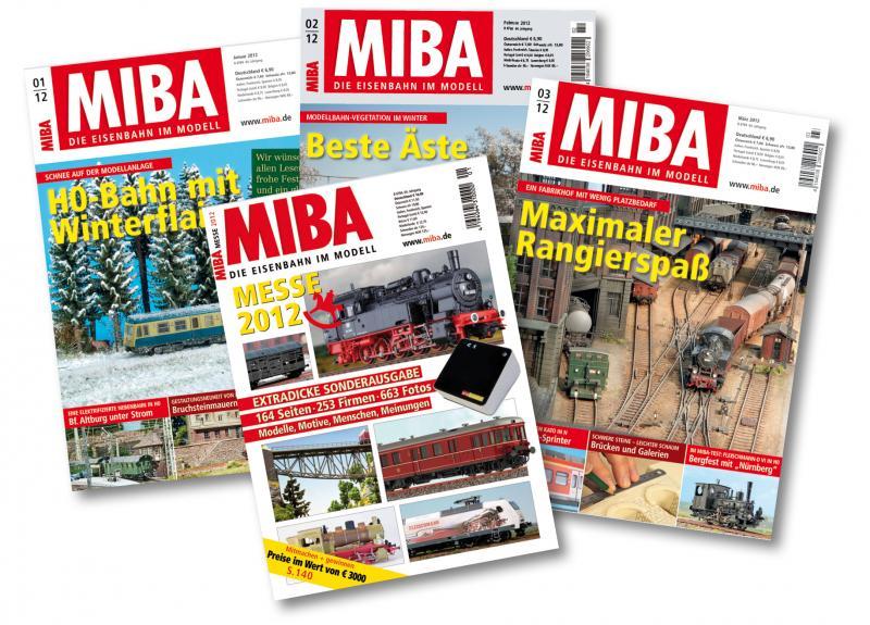 """Vorbei, galt nur am 9.1.    Schnell sein, wohl nur Heute für den Modellbahner: 1-Jahres-Abo Zeitschrift """"MiBa""""/""""Miniaturbahnen"""" 12 Hefte plus Messeheft 2017"""