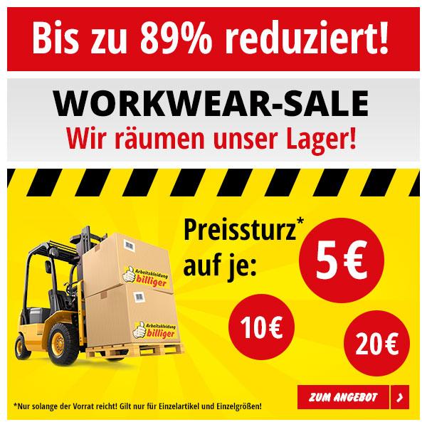 Bis zu 89% auf Arbeitskleidung
