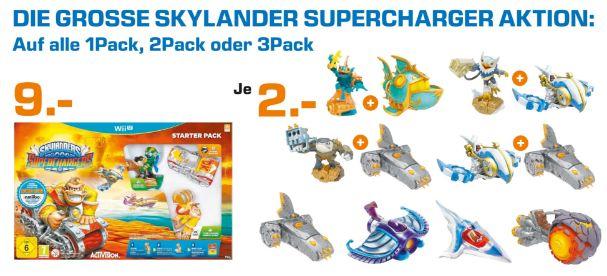 [Lokal Saturn Köln Hansaring] Skylanders: Superchargers - Starter Pack *Donkey Kong* für die Wii U für 9,-€***Alle Supercharger Figuren (1Pack.2Pack oder 3Pack) für je 2,-€